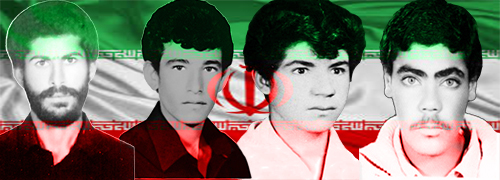 شهیدان محمد هاشم زمانی - ذبیح اله زارعی - حسین سعادتمند و جمشید احمدی